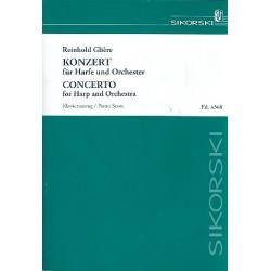 Glière, Reinhold: Konzert für Harfe und Orchester : für Harfe und Klavier