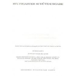Schütz, Heinrich: Allein Gott in der Höh sei Ehr : Geistliches Konzert für 2 Soprane, 2 Tenöre und Orgel, Partitur: