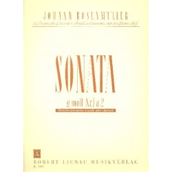 Rosenmüller, Johann: Sonate Nr.1 : für 2 Violinen und Klavier Partitur ( Klavier)