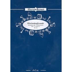 Edelmann, Karl: Klarinettenfreunde für 2 Klarinetten und Blasorchester Direktion und Stimmen