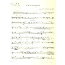 Dubois, Francois Clement Th├®odore: Marche triomphale : f├╝r Orgel und Blechbl├ñser (Posaunenchor) Trompete 1 in B
