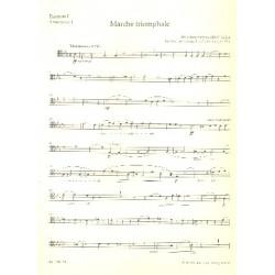 Dubois, Francois Clement Th├®odore: Marche triomphale : f├╝r Orgel und Blechbl├ñser (Posaunenchor) Posaune 1 in C