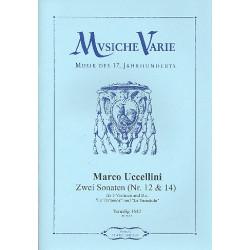 Uccellini, Marco: 2 Sonaten Nr.12 und Nr.14 : für 3 Violinen und Bc Stimmen