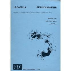 Kiesewetter, Peter: La Batalla op.67b : Spanische Miniaturen für 4 Diskantzithern Partitur und Stimmen