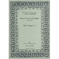 Schmelzer, Johann Heinrich: Sonate Nr.2 a 5 : für 2 Violinen, 3 Violen und Bc. Partitur und Stimmen