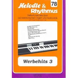 Werbehits 3 : für E-Orgel / Keyboard