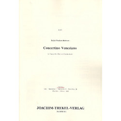 Paulsen-Bahnsen, Ralph: Concertino Veneziano : für Sopranblockflöte und Zupforchester Partitur