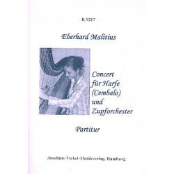 Malitius, Eberhard: Konzert : f├╝r Harfe (Cembalo) und Zupforchester Partitur