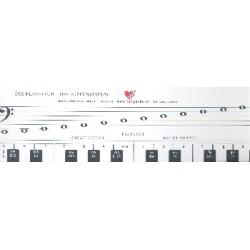 Rauchbauer, Bernhard: Klaviatur mit Herz 66 x 9,5 cm
