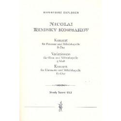 Rimski-Korsakow, Nicolai: Konzert B-Dur : für Posaune und Militärkapelle Variationen g-Moll : für Oboe und Militärkapelle Konze