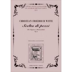 Witte, Christian Friedrich: Scelta i pezzi per organo o clavicembalo vol.1