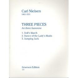 Nielsen, Carl: 3 Pieces for 3 bassoons score+parts