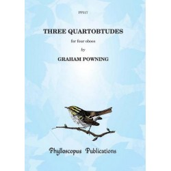 Powning, Graham: 3 Quartobtudes : for 4 oboes score+parts