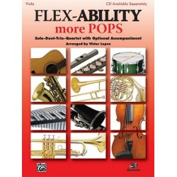 Flex-Ability more Pops for 4 instruments viola score