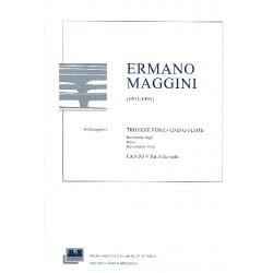 Maggini, Ermano: Trilogie für C- und G-Flöte und Canto V für Flöte solo