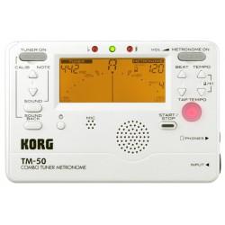 KORG TM-50 Tuner/Metronom, Pearl White