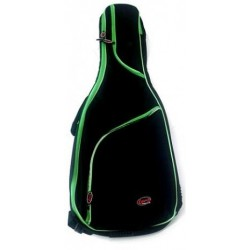 LENZ Gig Bag Konzertgitarre 3/4 - 7/8, schwarz/grün