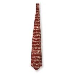 Krawatte Noten Rot