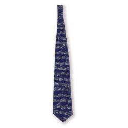 Krawatte Noten Blau