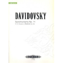 Davidovsky, Mario: Synchronisms no.11 (+CD) : for contrabass and electronic sounds score