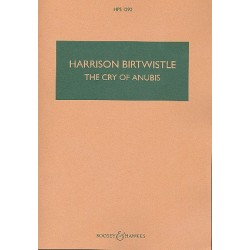 Birtwistle, Harrison: The Cry of Anubis for tuba and orchestra study score
