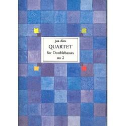 Alm, Jan: Quartet no.2 : for 4 double basses score and parts