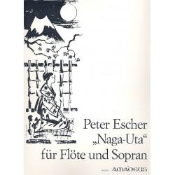 Escher, Peter: Naga-Uta op.48 für Sopran und Flöte 2 Partituren