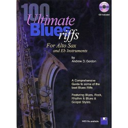 100 Ultimate Blues Riffs (+audio mps files): for alto saxophone