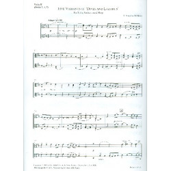 Vaughan Williams, Ralph: 5 Variants of Dives and Lazarus : for harp and string orchestra viola 2