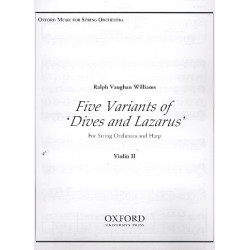Vaughan Williams, Ralph: 5 Variants of Dives and Lazarus : for harp and string orchestra violin 2