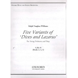 Vaughan Williams, Ralph: 5 Variants of Dives and Lazarus : for harp and string orchestra cello 2