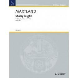Martland, Steve: Starry Night : f├╝r Marimbaphon und Streichquartett Partitur