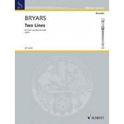 Bryars, Gavin: ED13244 Two Lines : f├╝r 2 Blockfl├Âten (TB)