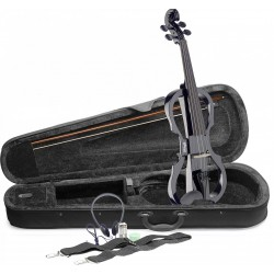 STAGG E-Violin Set mit schwarzer E-Violine 4/4