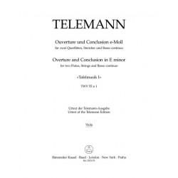 Telemann, Georg Philipp: Tafelmusik 1 TWV55:e1 für 2 Flöten, Streicher und Bc Viola