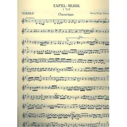 Telemann, Georg Philipp: Tafelmusik 1 TWV55:e1 : f├╝r 2 Fl├Âten, Streicher und Bc Violine 2