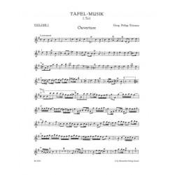 Telemann, Georg Philipp: Tafelmusik 1 TWV55:e1 für 2 Flöten, Streicher und Bc Violine 1