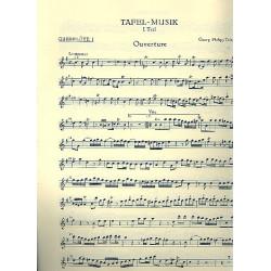 Telemann, Georg Philipp: Tafelmusik 1 TWV55:e1 für 2 Flöten, Streicher und Bc Flöte 1