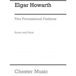 Howarth, Elgar: 2 Processional Fanfares : for 4 trumpets and 4 trombones score and parts