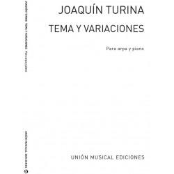 Turina, Joaquin: Tema y Variaciones : para arpa y piano