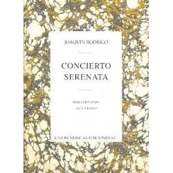Rodrigo, Joaquin: Konzert Serenade : für Harfe und Klavier