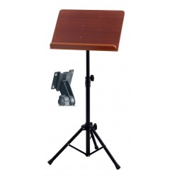 GEWA Orchesterpult Holzplatte, rot-braun