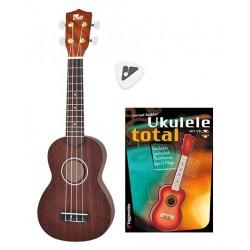 VOLT Complete Ukulelen-Set mit Lehrbuch (inkl. CD) und Plektrum
