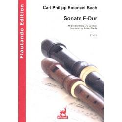 Bach, Carl Philipp Emanuel: Sonate F-Dur Wq163 : für Bassblockflöte und Cembalo