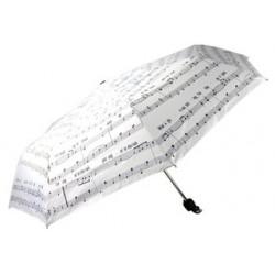 """Taschenschirm """"I´m singing in the rain"""" - weiß"""
