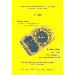 Anonymus: Konzert C-Dur : für Mandoline und Streicher Partitur (ca. 1760)