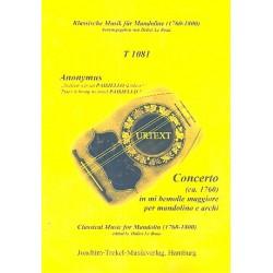 Anonymus: Konzert Es-Dur : für Mandoline und Streicher Partitur (ca. 1760)