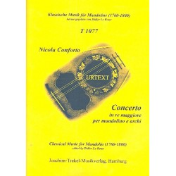 Conforto, Nicola: Konzert D-Dur : für Mandoline und Streicher Partitur