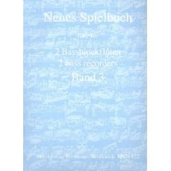 Neues Spielbuch Band 3 für 2 Bassblockflöten Spielpartitur