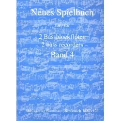 Neues Spielbuch Band 4 für 2 Bassblockflöten Spielpartitur